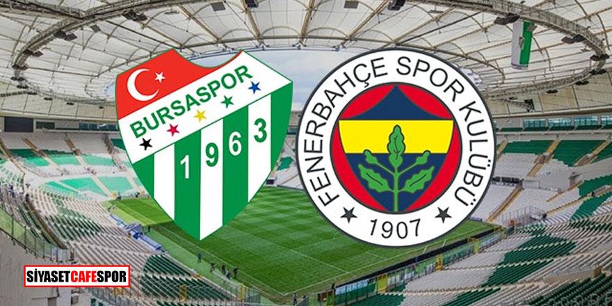 Bursaspor - Fenerbahçe karşılaşması sona erdi: İşte maç sonucu