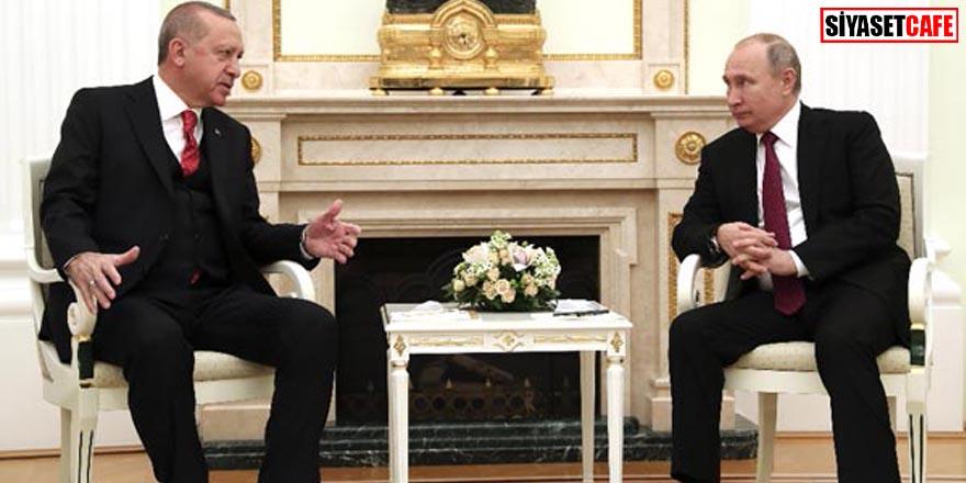 Cumhurbaşkanı Erdoğan ve Putin görüşmesi sona erdi