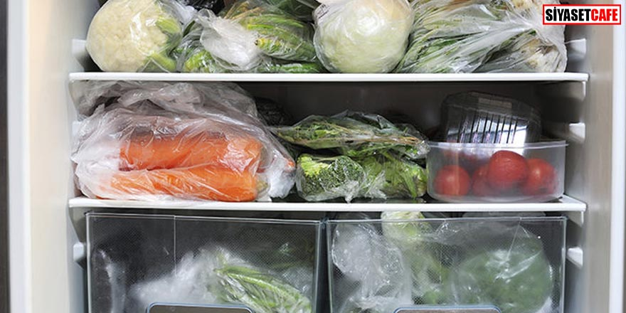 Sebzeleri poşetle buzdolabına koymayın!