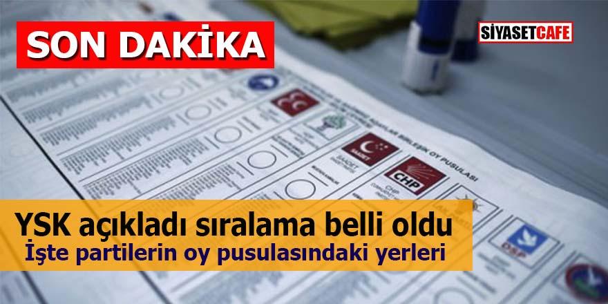 YSK açıkladı: İşte seçime girecek partilerin oy pusulasındaki yerleri