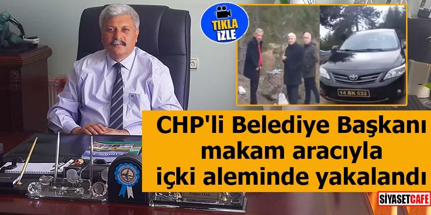 CHP'li Belediye Başkanı makam aracıyla içki aleminde yakalandı