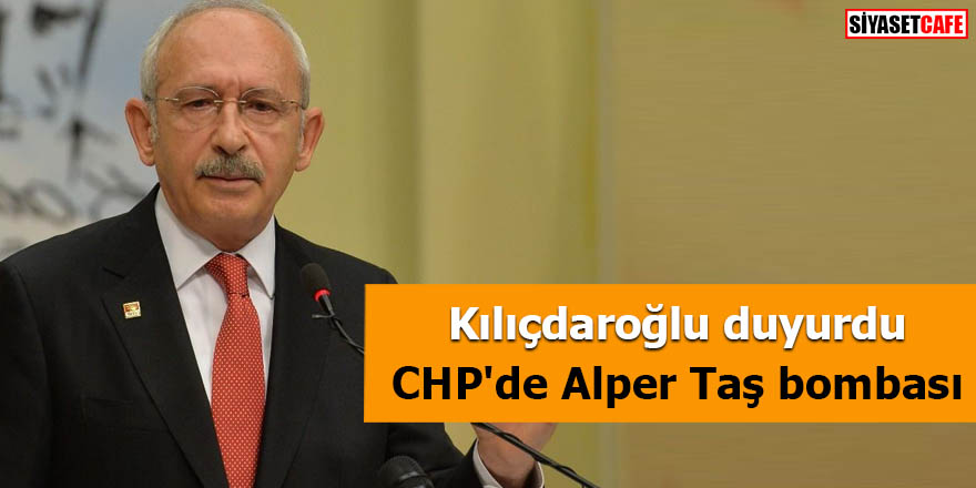 CHP'de Alper Taş bombası