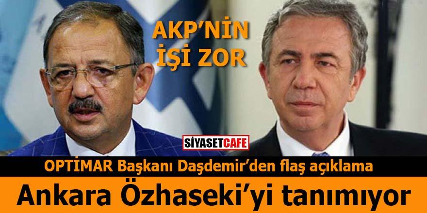 OPTİMAR'ın Başkanı Daşdemir açıkladı: Ankara Özhaseki'yi  tanınmıyor