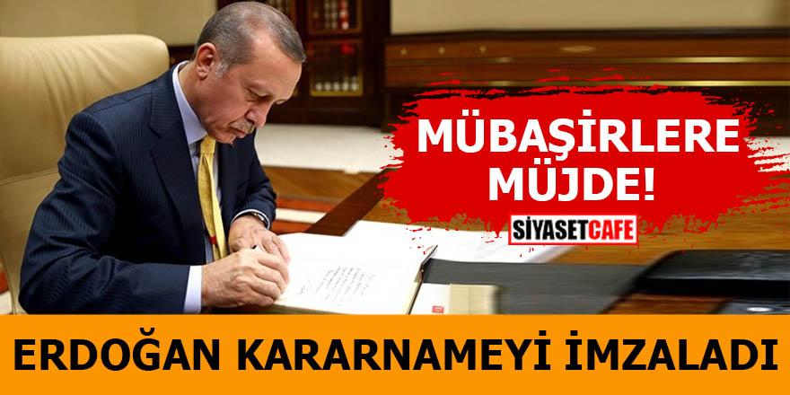 Erdoğan kararnameyi imzaladı Mübaşirlere müjde