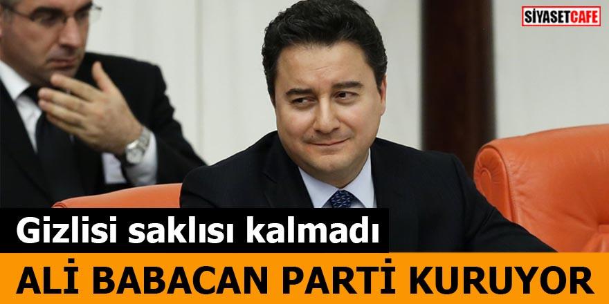 Ali Babacan Parti kuruyor