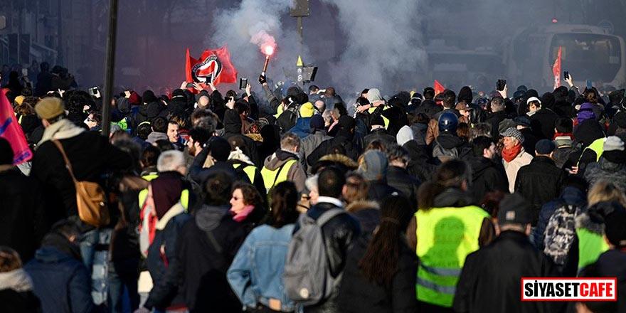 Fransa'da işçiler sokağa indi Ülkede 24 saat grev ilan edildi