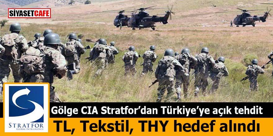 Gölge CIA Stratfor'dan Türkiye'ye açık tehdit