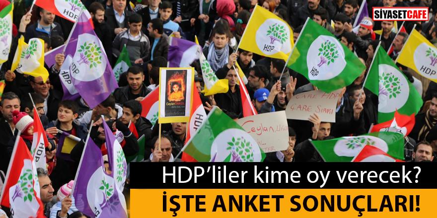 HDP'liler kime oy verecek? İşte anket sonuçları...