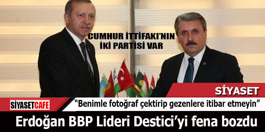 Erdoğan Sivas'tan BBP Lideri Destici'yi fena bozdu: Cumhur İttifakı'nın iki partisi var