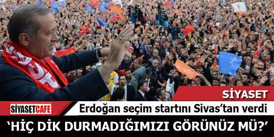 Erdoğan ilk mitinginde fırçayı attı: Her şeyi verdik, provoke etmeyin
