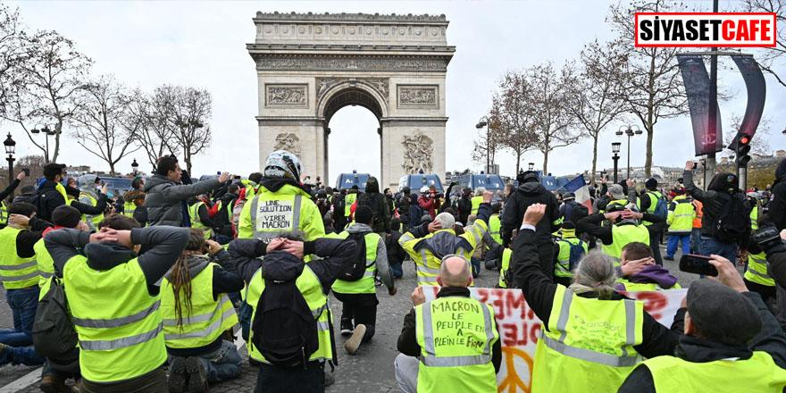 Paris sokakları karıştı! Bir eylemcinin eli koptu