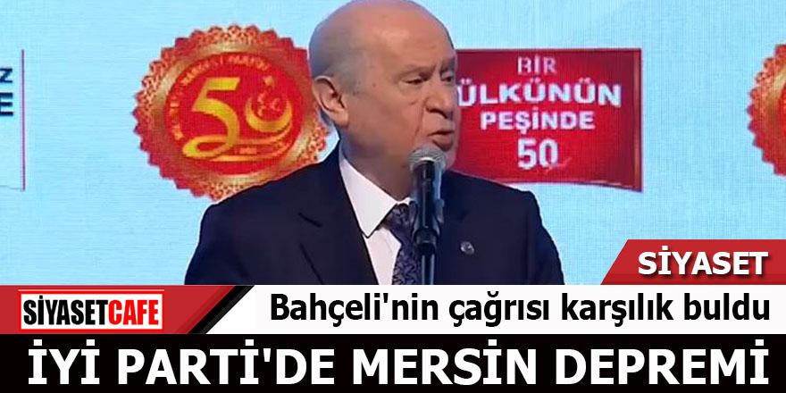 Bahçeli'nin çağrısı karşılık buldu İYİ Parti'de Mersin depremi