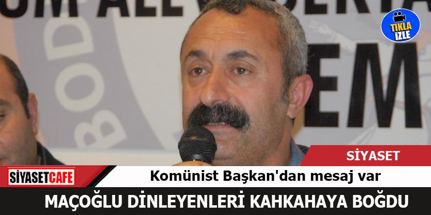 Ovacık'ın komünist belediye başkanının konuşması