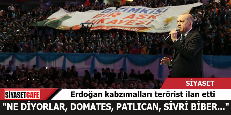 Erdoğan kabzımalları terörist ilan etti