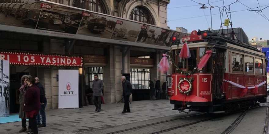 Taksim nostaljik tramvay 105. yılında