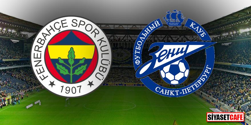 Fenerbahçe Zenit maçı hangi kanalda şifresiz, saat kaçta?