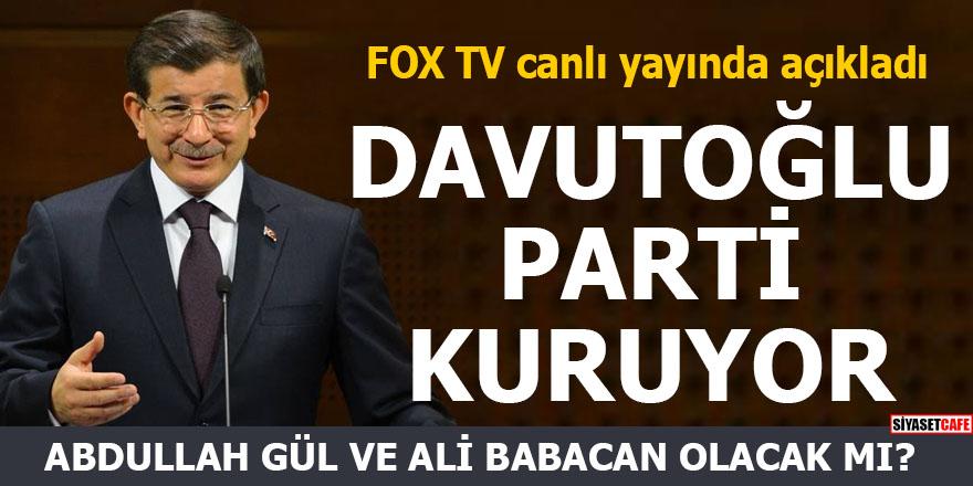 Ahmet Davutoğlu parti kuruyor