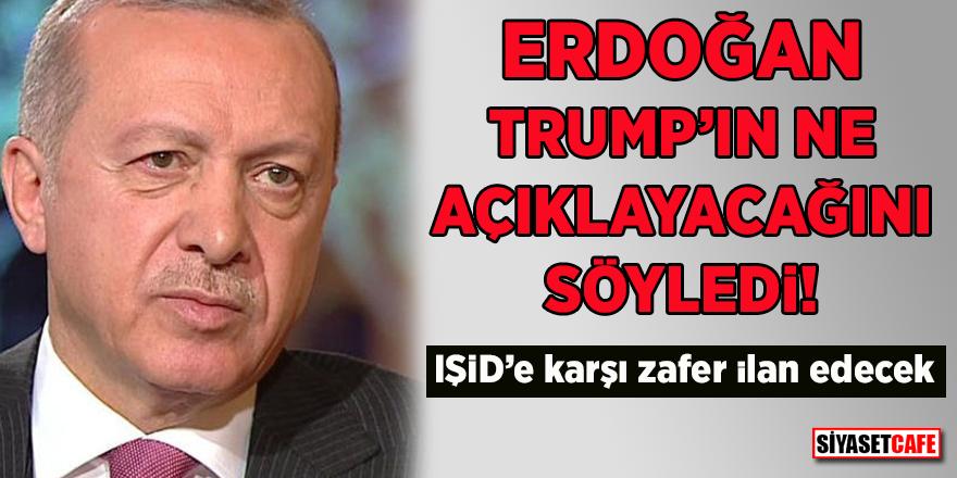 Erdoğan Trump'ın ne açıklayacağını söyledi! IŞİD'e karşı zafer ilan edecek