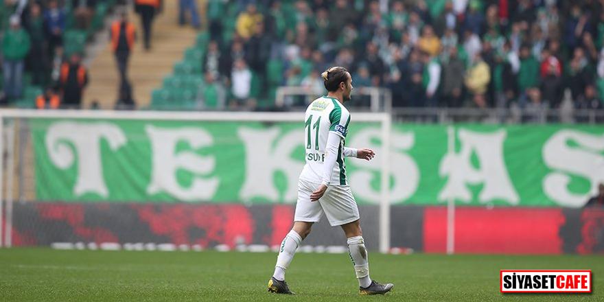 Bursaspor - Çaykur Rizespor maçında Yusuf Erdoğan sahayı terk etmek istedi