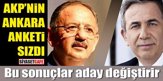 AK Parti'nin Ankara anketi sızdı
