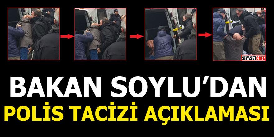 Bakan Soylu'dan polis tacizi açıklaması