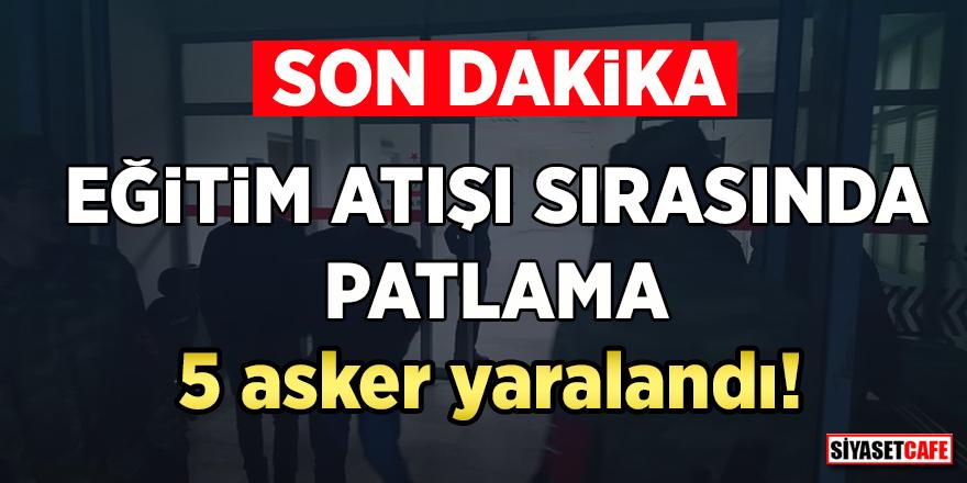 Ankara Polatlı'da patlama! Eğitim atışında 5 asker yaralandı