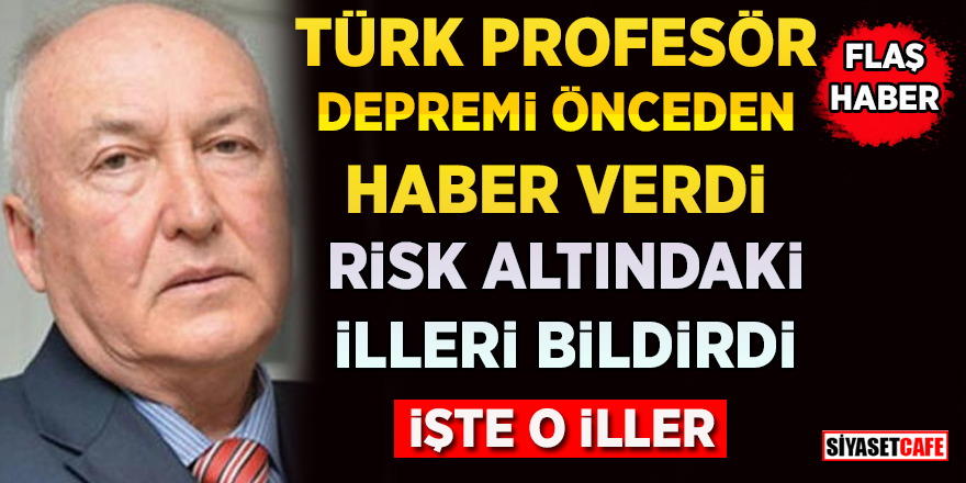 Prof. Dr. Ahmet Ercan, depremi 3 saat önce tahmin etti