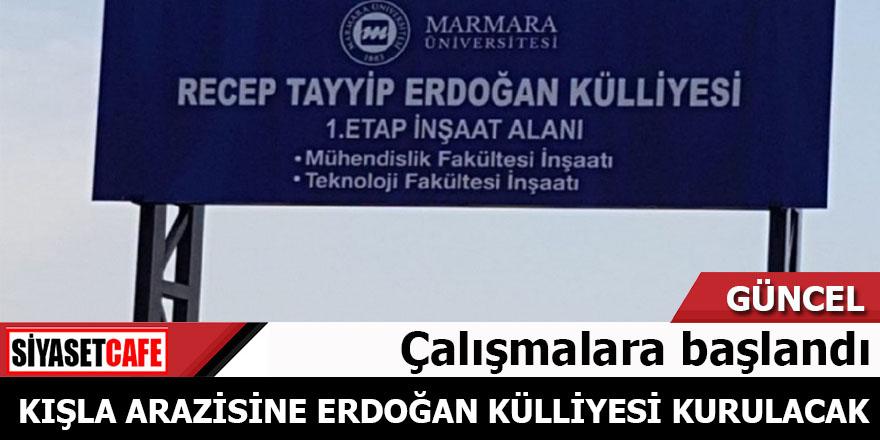 Kışla arazisine Tayyip Erdoğan külliyesi kurulacak