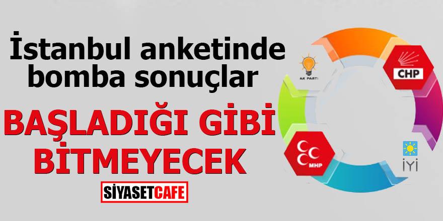 İstanbul anketinde bomba sonuçlar