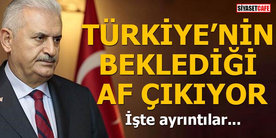 Türkiye'nin beklediği af çıkıyor İşte ayrıntılar