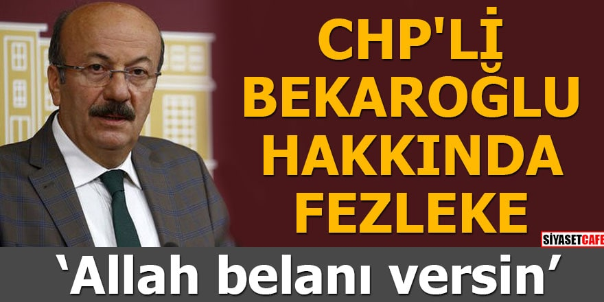 CHP'li Bekaroğlu hakkında fezleke