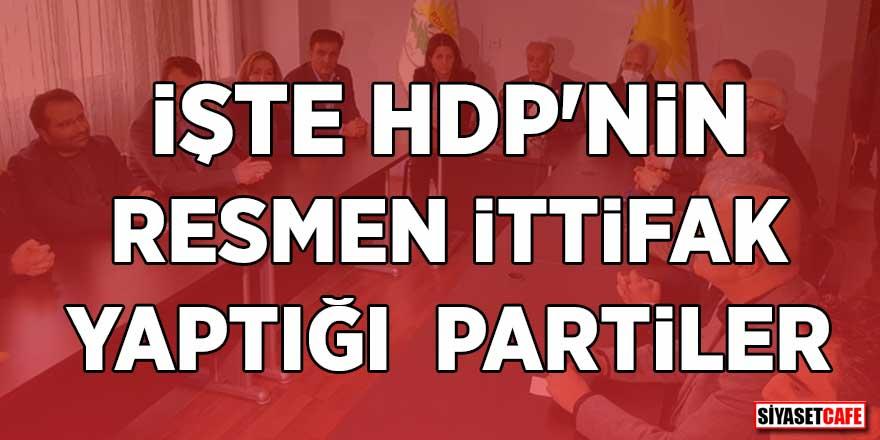 İşte HDP'nin resmen ittifak yaptığı partiler