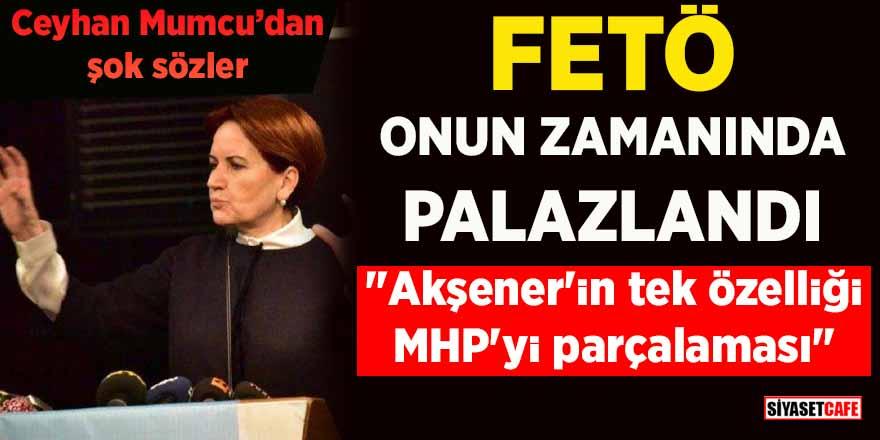 """Ceyhan Mumcu'dan şok sözler: """"Akşener'in tek özelliği MHP'yi parçalaması"""""""