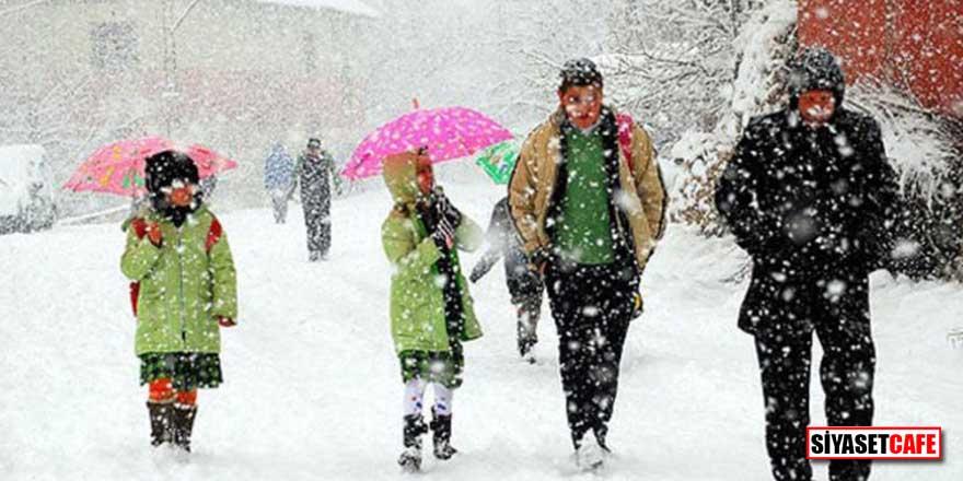 Eğitime kar engeli! İşte 25 Şubat Pazartesi tatil olan il ve ilçeler