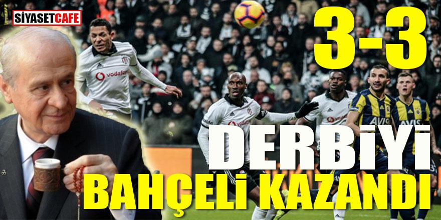 Beşiktaş Fenerbahçe derbisini Bahçeli kazandı