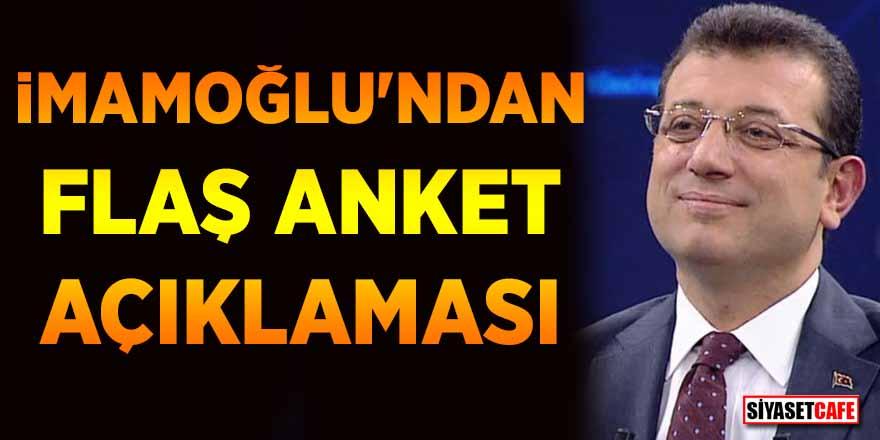 İmamoğlu'ndan Erdoğan'a anket çıkışı