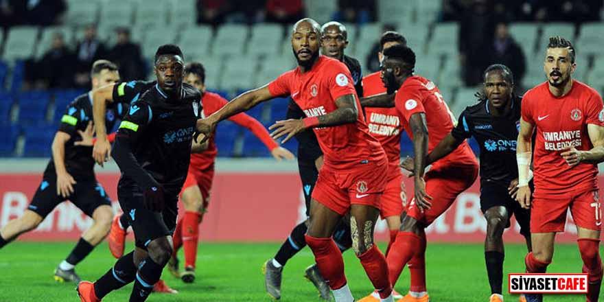 Fenerbahçe'den sonra Trabzonspor'u da eleyen Ümraniyespor yarı finalde