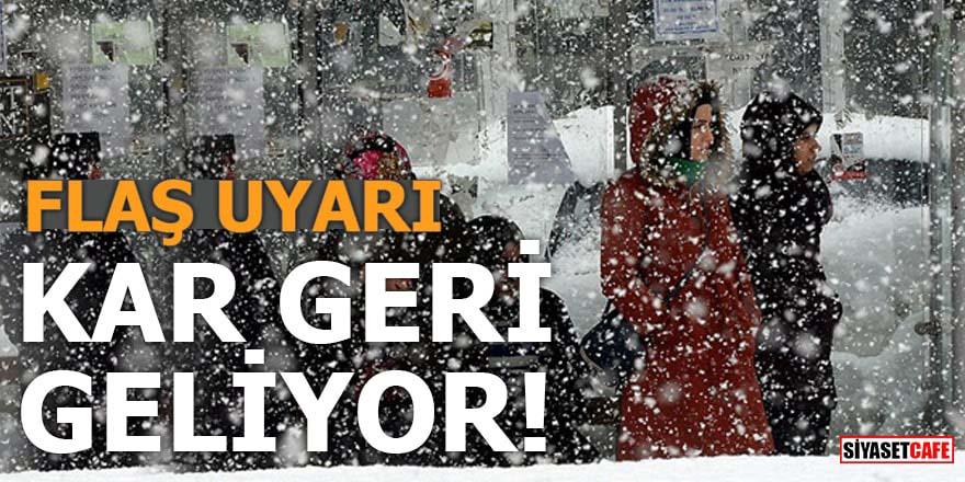 Meteoroloji uyardı: Marmara'ya kar geri geliyor