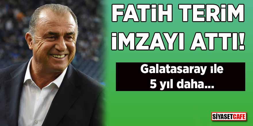 Fatih Terim imzayı attı! Galatasaray ile 5 yıl daha…