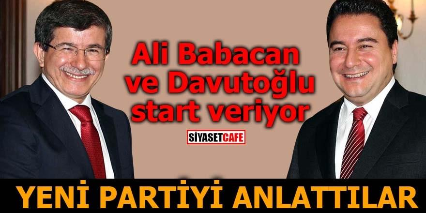 Ali Babacan ve Davutoğlu start veriyor Yeni partiyi anlattılar