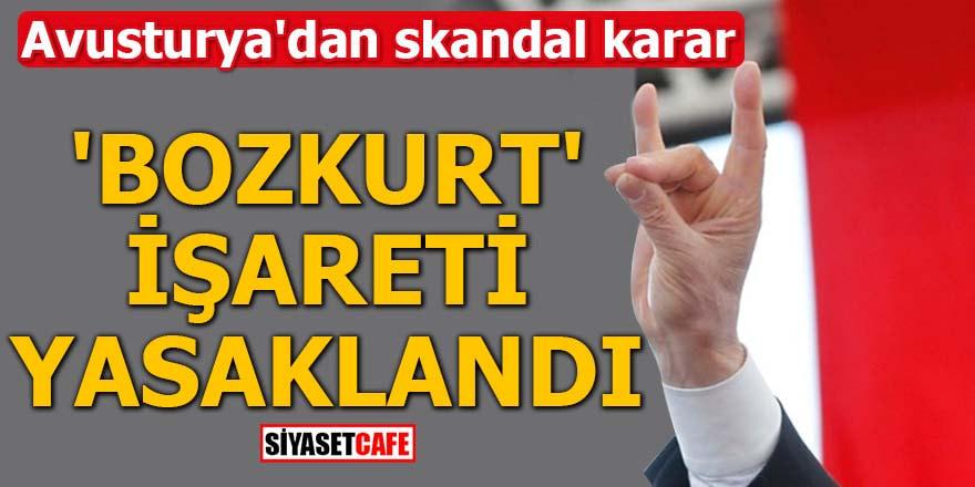 Avusturya'dan skandal karar 'Bozkurt' işareti yasaklandı