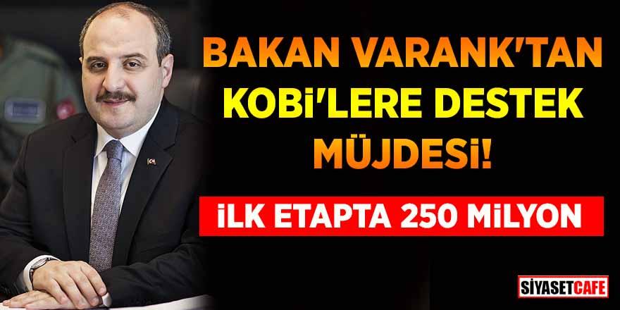 Bakan Varank'tan KOBİ'lere destek müjdesi! İlk etapta 250 milyon
