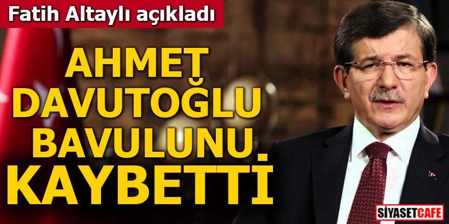 Fatih Altaylı açıkladı Ahmet Davutoğlu bavulunu kaybetti