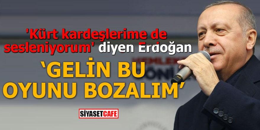 'Kürt kardeşlerime de sesleniyorum' diyen Erdoğan: Gelin bu oyunu bozalım