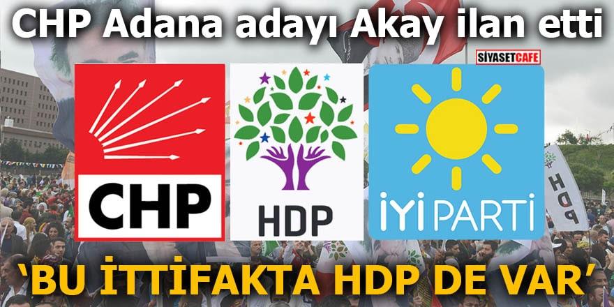 CHP Adana adayı Akay ilan etti Bu ittifakta HDP de var