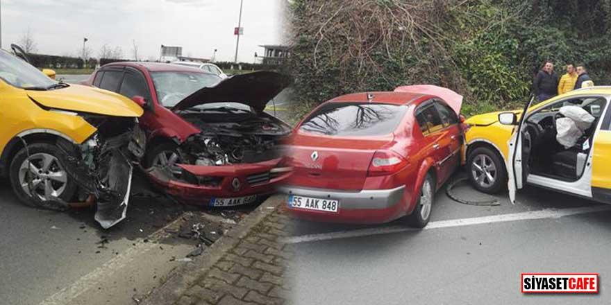 Rizespor'lu Mykola Morozyuk'un eşi Iryna Morozyuk trafik kazası geçirdi