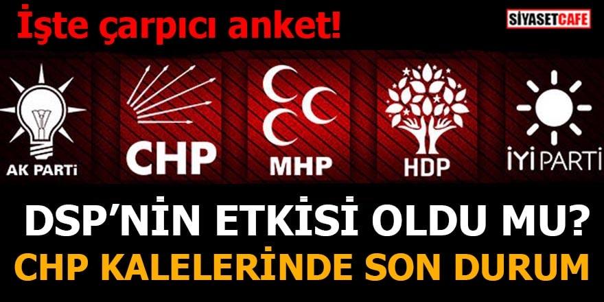 DSP'nin etkisi oldu mu?CHP kalelerinde son durum