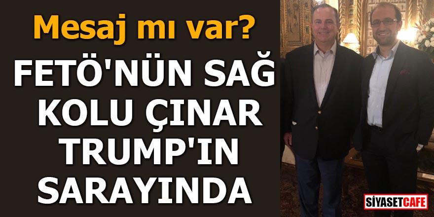 FETÖ'nün sağ kolu Çınar, Trump'ın sarayında