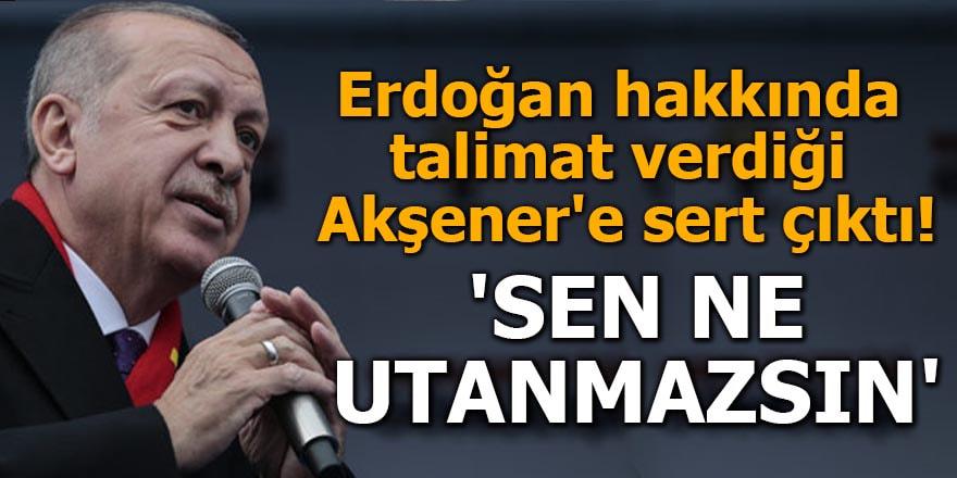 Erdoğan hakkında talimat verdiği Akşener'e sert çıktı 'Sen ne utanmazsın'
