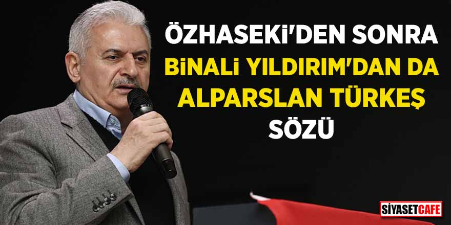 Özhaseki'den sonra Binali Yıldırım'dan da Alparslan Türkeş sözü